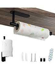 Kitchen Roll Holder,Under Cabinet Wall Mount for Kitchen Paper Towel ,Self Adhesive or Drilling, Stainless Steel Paper Towel Bar for Kitchen, Pantry, Sink, Bathroom