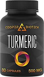 Turmeric - Organic Turmeric Curcumin Supplement - Joint Pain Relief - Anti-Inflammatory - 80 Capsules with 95% Curcuminoids Powder - Best 100% All Natural Gluten Free Non-Gmo - 1500MG Serving Per Day