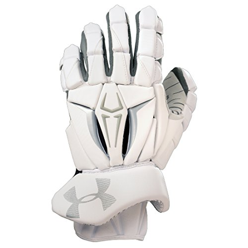 Under Armour Command Pro II Lacrosse Gloves-White-MED/12