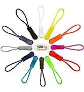 EuTengHao 120 Pcs Zipper Pulls Zipper Extension Pulls Nylon Cord Zipper Tag Replacement for Cloth...