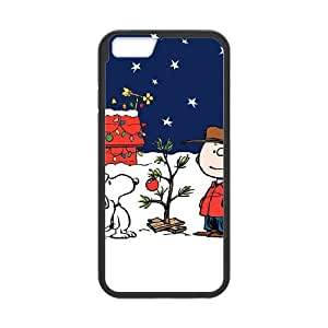 Charlie Brown And Snoopy iPhone 6 4.7 Inch Cell Phone Case Black PQN6053055330930