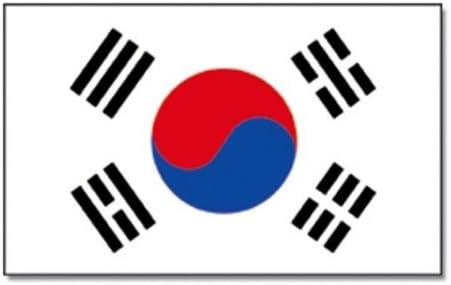 mit 2 Ösen Fahne Flagge 90 x 150 cm Südkorea