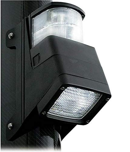 - HELLA 998504001 '8504 Series' 12V DC 2 NM Masthead/Floodlight Combination Light with Black Housing
