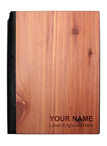 Personalized Real Wood Journal/Planner with 160 Lined Pages, Aromatic Cedar
