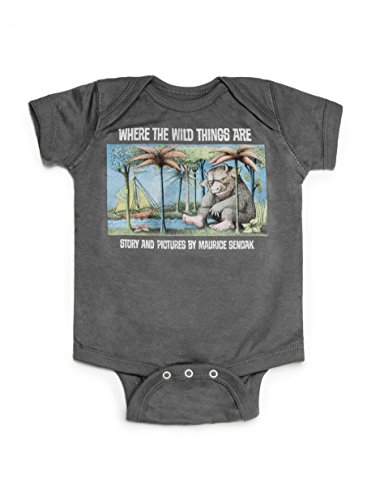 Out of Print Infant Where The Wild Things are Bodysuit 6 Month Charcoal