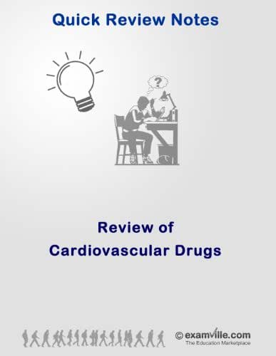 Quick Review of Cardiovascular Drugs (Quick Review Notes)