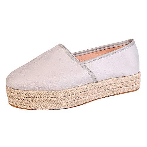 SUNyongsh Women's Ladies Shoes Casual Roman Plus-Size Wedges