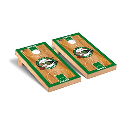 Victory Tailgate Boston Celtics NBA Basketball Regulation Cornhole Game Set Basketball Court Version