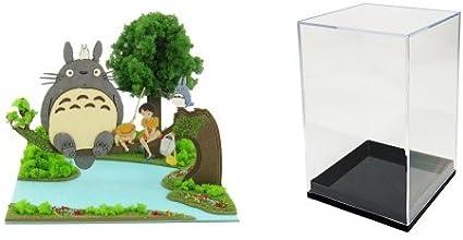 【セット商品】 さんけい スタジオジブリmini となりのトトロ トトロとサツキとメイ ペーパークラフト + みにちゅあーとmini 専用ケース
