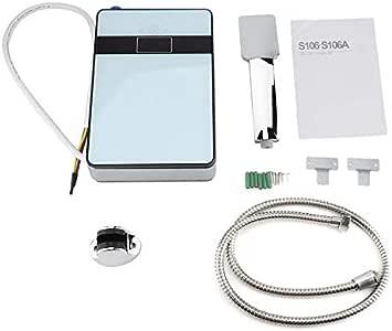 Calentador de agua el/éctrico instant/áneo sin tanque de 220V 6500W con pantalla LED para ducha de ba/ño en el hogar