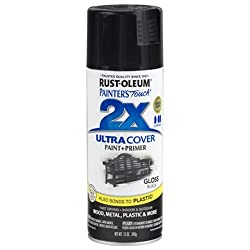 Rust-oleum 249122 Painter's Touch Multi Purpose Spray Paint, 12-ounce, Black