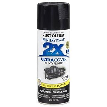 Rust-Oleum 249122 Painter's Touch Multi Purpose Spray Paint, 12-Ounce, Black