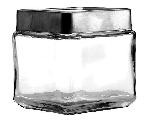 (Anchor Hocking 1-Quart Stackable Jars with Brushed Aluminum Lid, Set of 6)