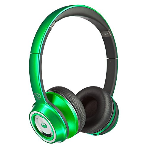 Monster NTUNE On-Ear Headphones, Candy Green - Frustration Free Packaging