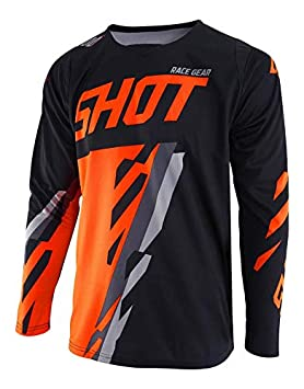 SHOT Maillot Contact Score, Noir/Né on Orange, Taille XL Noir/Néon Orange A0C-12B1-A03