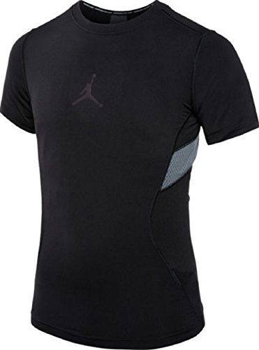 Nike Air Jordan Boys' Stay Cool Compression T-Shirt (Black, Large) by NIKE
