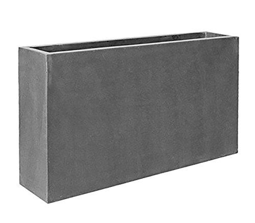 Elegant Modern Gray Rectangular Jort Indoor Outdoor Planter Pot – 20 ...