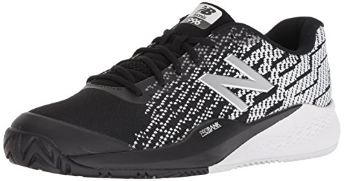 New Balance Men's 996v3 Hard Court Running Shoe, Black/White, 11 2E US (Tennis Apparel Balance New)