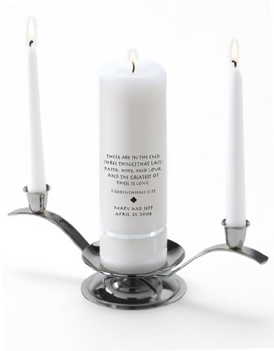 Personalized Wedding Unity Candle - Personalized Unity Candle Set - Corinthians JDS GC330 P15