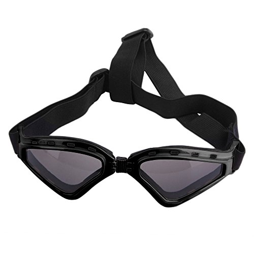 LUCKSTAR Cool Pet Sunglasses Animal Fashion Eye Protection UV Sunglasses New Fashionable Water-Proof Adjustable Elastic Back Strap Antifog Shatterproof Lenses For Pet Dogs Or Cats (Black) by LUCKSTAR (Image #1)