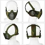 Masque Pliable Airsoft Mesh avec Protection Oreille et Casquette de Baseball Réglable Set pour CS/Chasse/Paintball/Tir 9