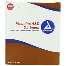 Vitamin A & D First Aid Ointment Unit Packets 144/box