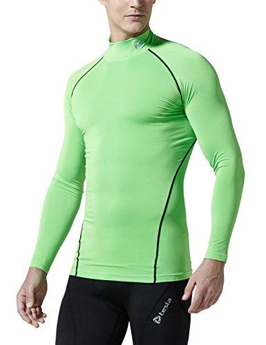 TM-T11-NEKZ_Small j-M Tesla Men's Cool Dry Compression Baselayer Mock Long Sleeve T Shirts T11