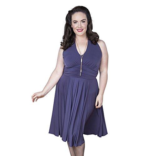 Emily London Womens Plus Size Marilyn Halter Neck Jersey Dress Purple - UK Size 18 US Size 16 for $<!--$48.99-->