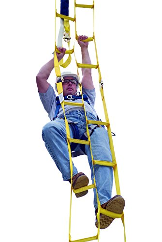 Ladder Rescue - 3M DBI-SALA 8516294 Rollgliss 8' Synthetic Web Rescue Ladder with Reinforced Rigid Staggered Steps, Yellow