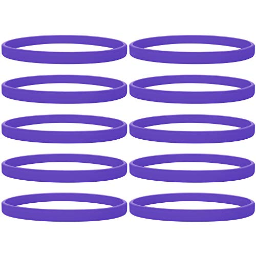 GOGO 100 Pcs Thin Silicone Wristbands, Rubber Bracelets,