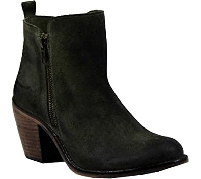 Diba True Women's Java Time Ankle Boot,Olive Suede,US ...