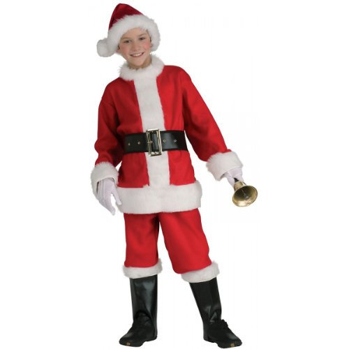 Flannel Santa Costume - Child Medium