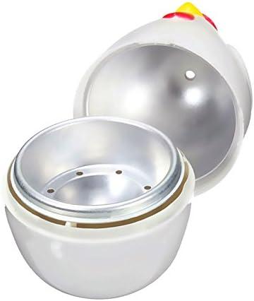 BKAUK Chick-Shaped 1 gekochtes Ei Dampfgarer Dampfgarer Stoessel Mikrowelle Eierkocher Kochutensilien Kuechenhelfer Zubehoer Werkzeuge