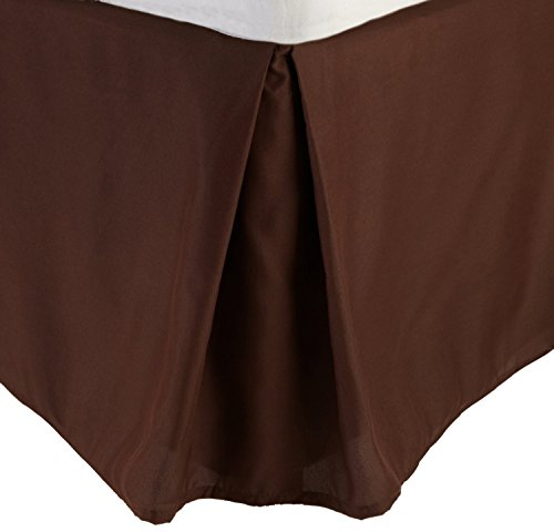 Easy on Easy Solid Bedskirt,Tailored Fit 400 Thread Count 100% Egyptian Cotton,1PC- 16 Inches Drop Length. (Chocolate,Queen (Bedskirt Solid Chocolate)