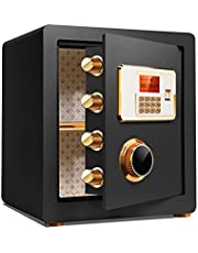 Fireproof Safe,Digital Keyboard Safe,Safe with Keyboard Lock and Key,Small Safe,Strong and Stable,can Be Used to Store Cash,Jewelry,Important Documents,Suitable for Home/Office.