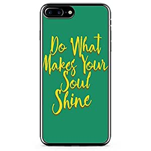 iPhone 8 Plus Transparent Edge Phone case Soul Shine Phone Case Inpiration iPhone 8 Plus Cover with Transparent Frame