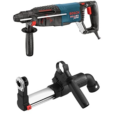 bosch bulldog hammer drill. bosch 11255vsr sds-plus bulldog xtreme rotary hammer with hdc100 sds-plus dust collection bulldog drill l