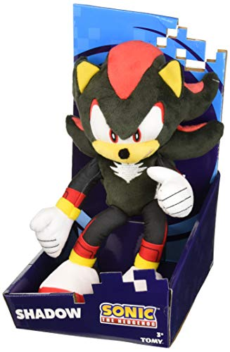 (Sonic Modern Shadow Plush Character, Black/Yellow/Red)