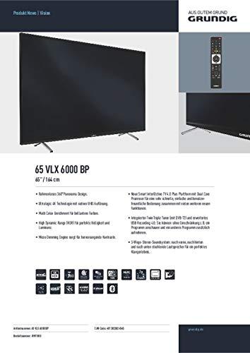 Grundig 65 VLX 6000 BP 165,1 cm (65 Zoll) LED-Backlight-TV
