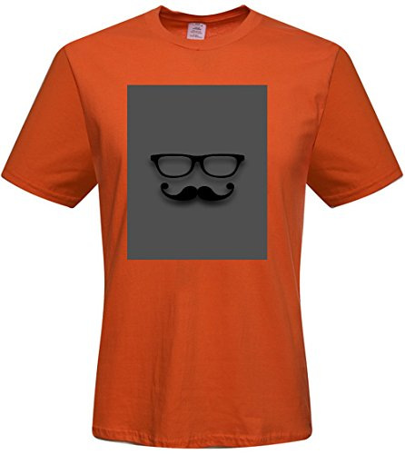 Custom Mustache Mens T-shrits,DIY MENS Cotton Crew Neck T-Shirt