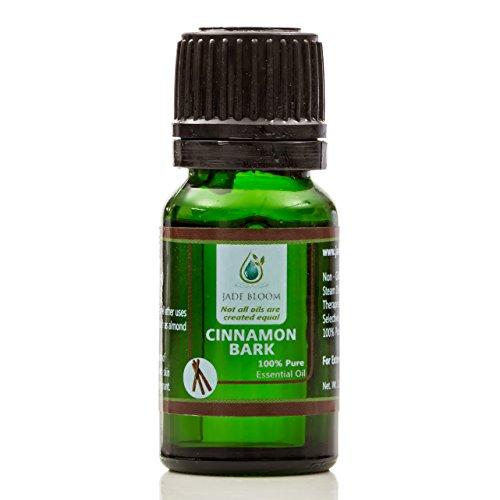 Jade Bloom 100% Pure Cinnamon Bark Ceylon Essential Oil - 10ml (Therapeutic Grade)