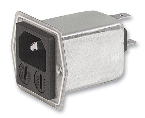 SCHURTER 5707.0801.112 IEC Filter, 100 nF, 125 VAC, Standard, 8 A, Quick Connect, 400 ?H by Schurter