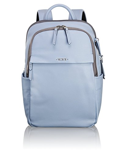 Tumi Women's Voyageur Leather Daniella Small Backpack Light Blue