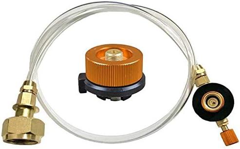 Vaorwne - Calentador de Gas para hornillo de Camping Adaptador de llenado de propano (GLP - Cilindro Plano - Adaptador de Botella para Grabar)