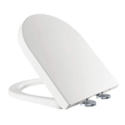 Oval Soft Close Toilet Seat WC Top Fixing Hinges Quick Release Easy Clean White