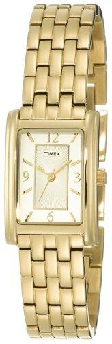 Timex Women's T2N050 Gold-Tone Fashion Rectangle Dress Watch