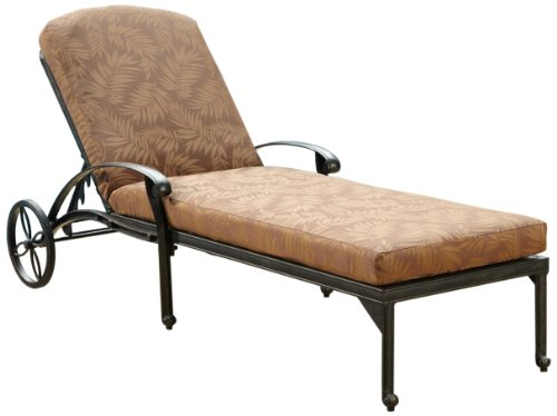 - Home Styles Floral Blossom Chaise Lounge Chair with Cushion, Charcoal