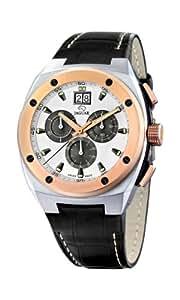Jaguar J625/A–Reloj de pulsera de hombre, correa de piel color negro