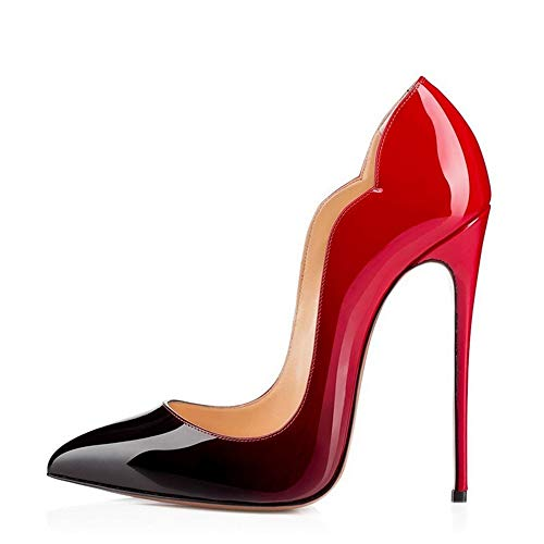 Heeled In Red Gradient Women 41 blu Lz Pelle verniciata Single For High Shoes q7KEAC