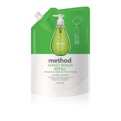 Method Gel Hand Wash Refill 34oz, Cucumber (Pack of 2)